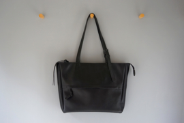 tote bag - black leather