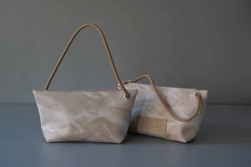CORD pouch - beige printed leather