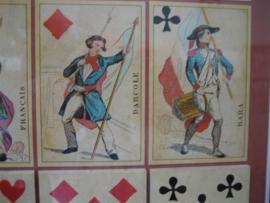 Antiek Kaartspel Jeu des Liberateurs Grimaud 1848