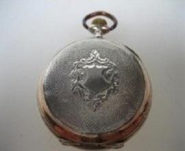 Antiek goud op zilveren zakhorloge