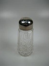 Bleikristallen Suiker Strooier met Verzilverende Dop ca.1952