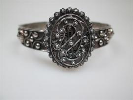 Antieke Zweeuwse Zilveren Armband Hoorn des overvloed