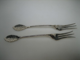 Zilveren gebaks vorkjes Schoonhoven 1911-1915