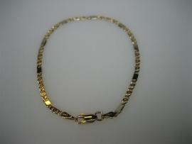 Gouden armbanden - 14krt. fantasie armband