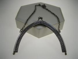 Antieke Zilveren Tasbeugel met Zilveren Jasseron Ketting