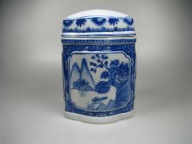Japanse Voorraadpot Kobaltblauw ca.1930