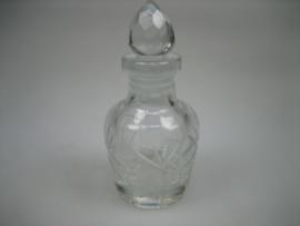 Antieke Krisstallen Bohemien Parfumflesje ca.1930