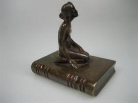 Brons Messing oude Boekensteun ca.1918