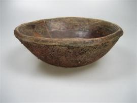 Antiek beschilderd kom uit Peru