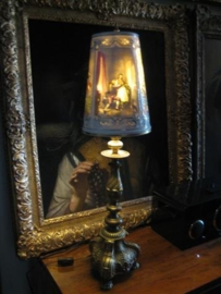 Italiaanse Originele Oude Capodimonte Porselein Lamp