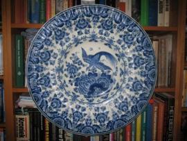 Antiek Delftsblauw Wandbord 53,5 cm van G. Hendriks c.a.1920