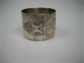 Antieke Vingerdoekring Hollands Zilver ca.1840