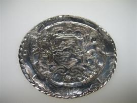 Antiek Zilveren Broeksknoop als hanger gemaakt