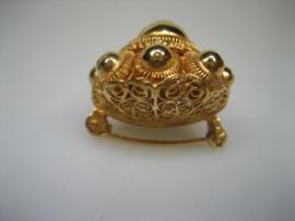 Antieke gouden 18krt. Zeeuwse Knoop Broche ca.1875