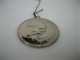 Zilveren Herdenkingsmunt Engeland als hanger Elizabeth de 2e van Engeland