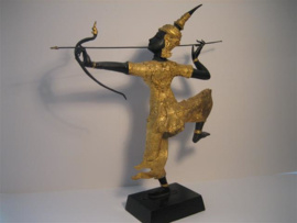 Bronzen beeld uit Thailand ca. 19e Eeuw