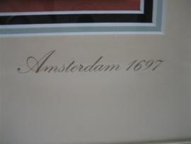 Carel de Wagenaar een antiek compleet Kaartspel en geheel ingelijst ca. 1697