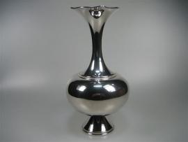 Zilveren Bloemenvaas met Parelrand ca.1965