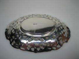 Antiek zilveren kleine Bonbon-schaaltje  1887/1911