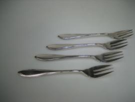 Zilveren gebaks vorkjes Voorschoten Zilverfabriek 1925-1961