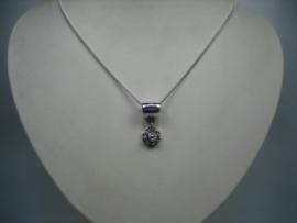 Zilveren Zeeuwse Knoophanger met gratis zilveren collier