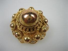 Antieke 14krt. Gouden Zeeuwse Knoop Broche ca.1890