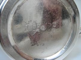 Verzilverde Theepotje 20 cl van Krupp Berndorf ca. 1935