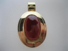 Gouden 14krt. hanger met een gefaseerde Granaat