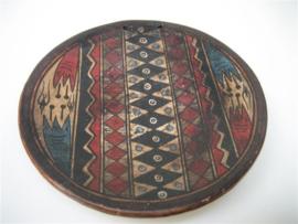 Antiek Oud Beschilderd Wandbord uit Peru