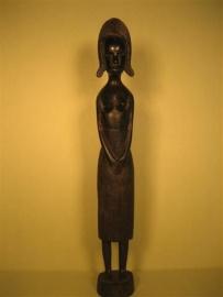 Antiek Zwart Gepatineerd Ebben Houtsnijwerk uit de Ivoorkust