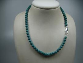 Turquoise collier met zilveren Cartier sluiting-Top Kwaliteit