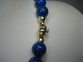 Gouden Antieke Zeeuwse Knoophanger met Lapis-Lazuli Collier
