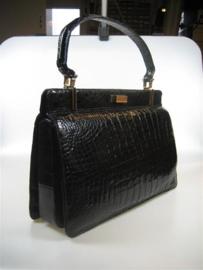 Lederen Zwarte Dames Handtas uit ca.1962 item