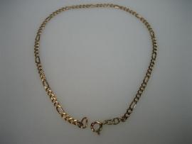 Gouden enkelband - 14 krt. fantasie enkelband