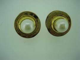 Antieke gouden 18krt. oorbellen uit Israël met Tahiti Parels ca.1860