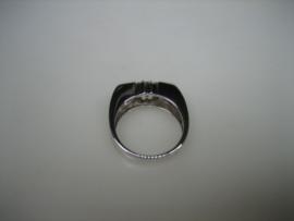 Witgouden 14 krt. ring met Citrien edelstenen