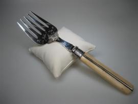 Zilveren Vleesvork uit een Franse top Restaurant ca.1906