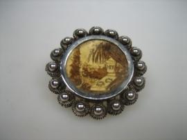 Antieke Zilveren Zeeuwse Broche Foto Hanger ca.1930
