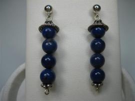 Zilveren Oorhangers met Lapis Lazuli uit Zweden