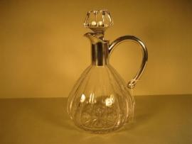 Antieke Wijnkaraf met Zilver uit de Art-Deco ca.1922