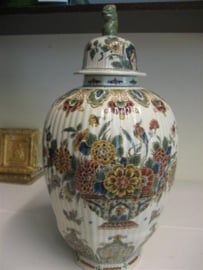Delft Porseleine Vaas met deksel