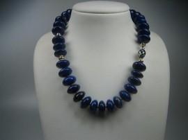 Antieke Lapis-Lazuli Collier met een Exclusieve Sluiting