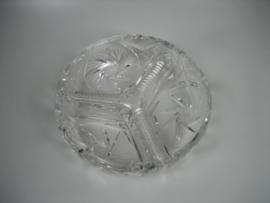 Nachtmann kristallen drievaks notenschaal ca.1950