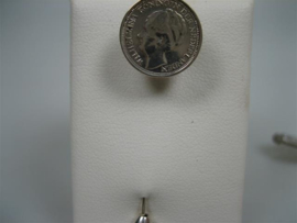 Zilveren dasspeld van Koningin Wilhelmina 1942
