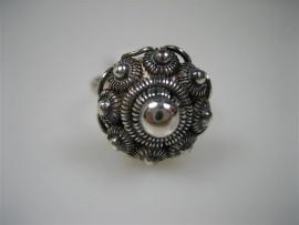 Zeeuwse Zilveren Zeeuwse Knop Ring