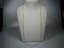 Parel collier wit met cream