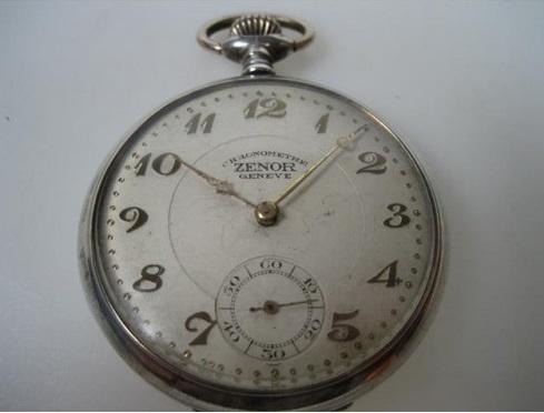 Zenor Chronometer Oud Zilveren Zakhorloge
