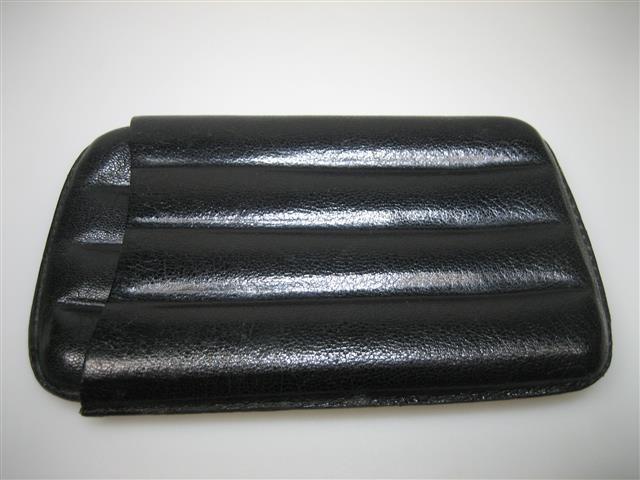 Lederen Sigarenetui koker 4 in zwart leder ca.1938 item