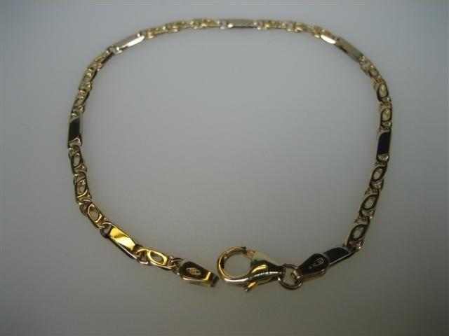 Gouden 14krt. Fantasie schakel armband kwaliteit