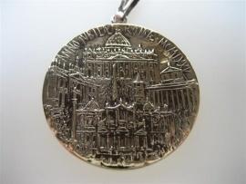 Zilveren Geloofs Penningmet Goud Vergulde Hanger